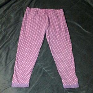 TCP girls 14 purple polkadot capri leggings